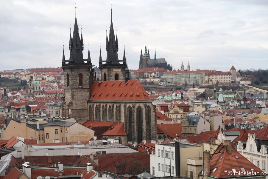 Praga vazuta de sus fotografii cladiri perspectiva