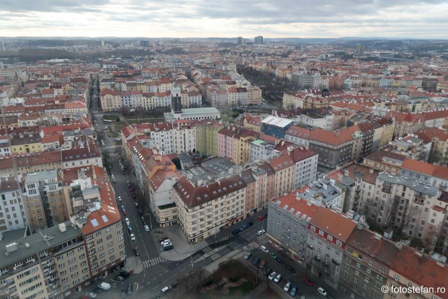 Praga vazuta de sus fotografii cladiri oras cehia