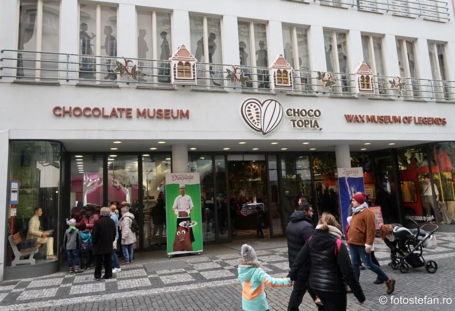 poza muzeul ciocolatei praga city break obiectiv turistic