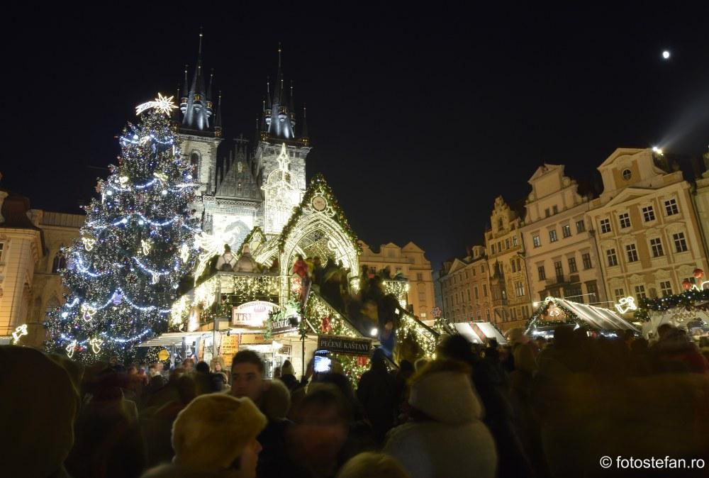 fotografii targul de Craciun din Praga Piata Orasului Vechi