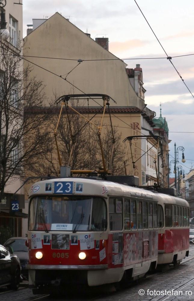 poza praga tramvai candidatura Václav Havel