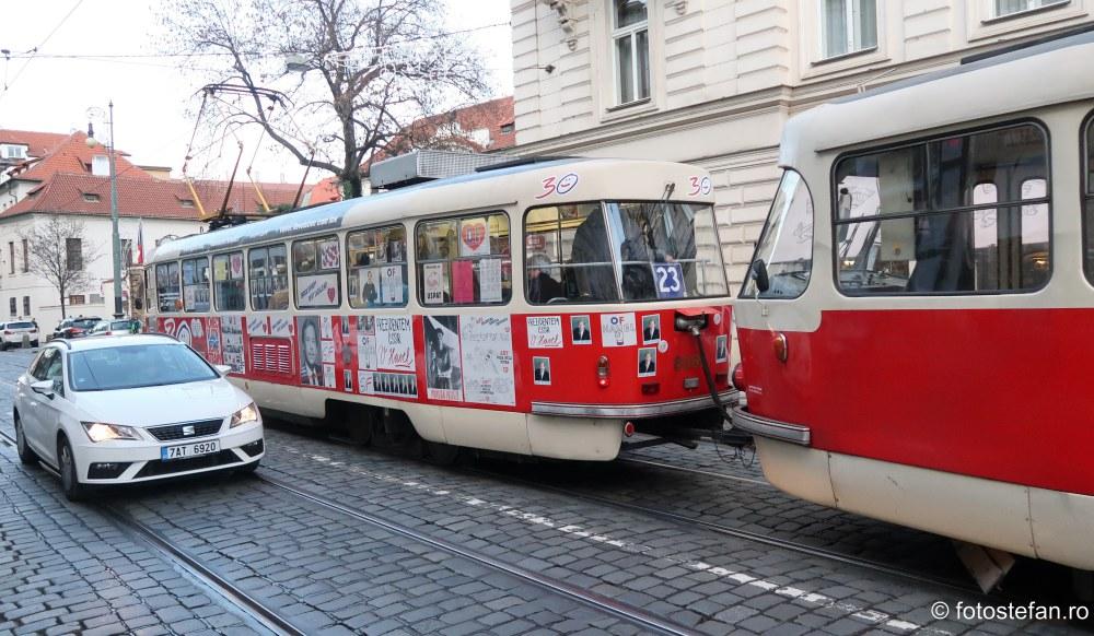 poza tramvaie candidatura Václav Havel praga cehia