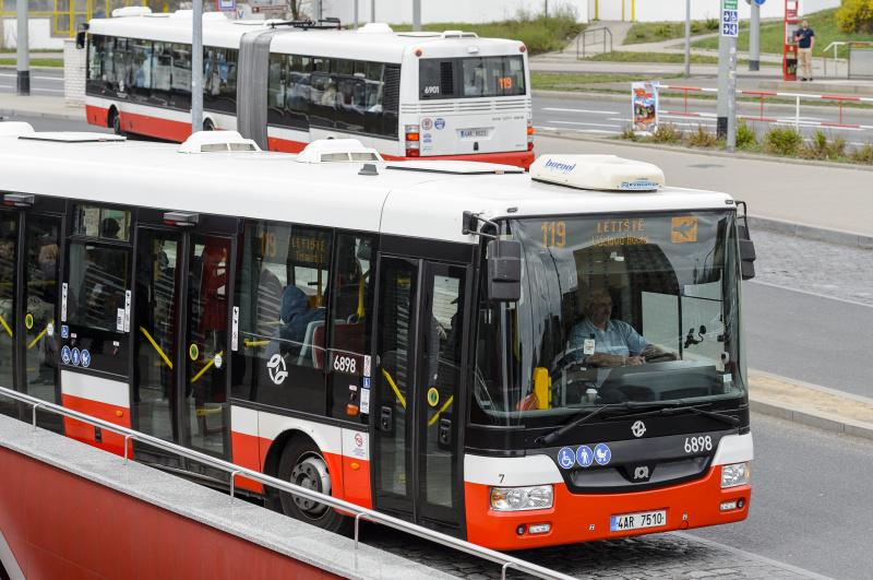 Transportul public in Praga autobuzul 119