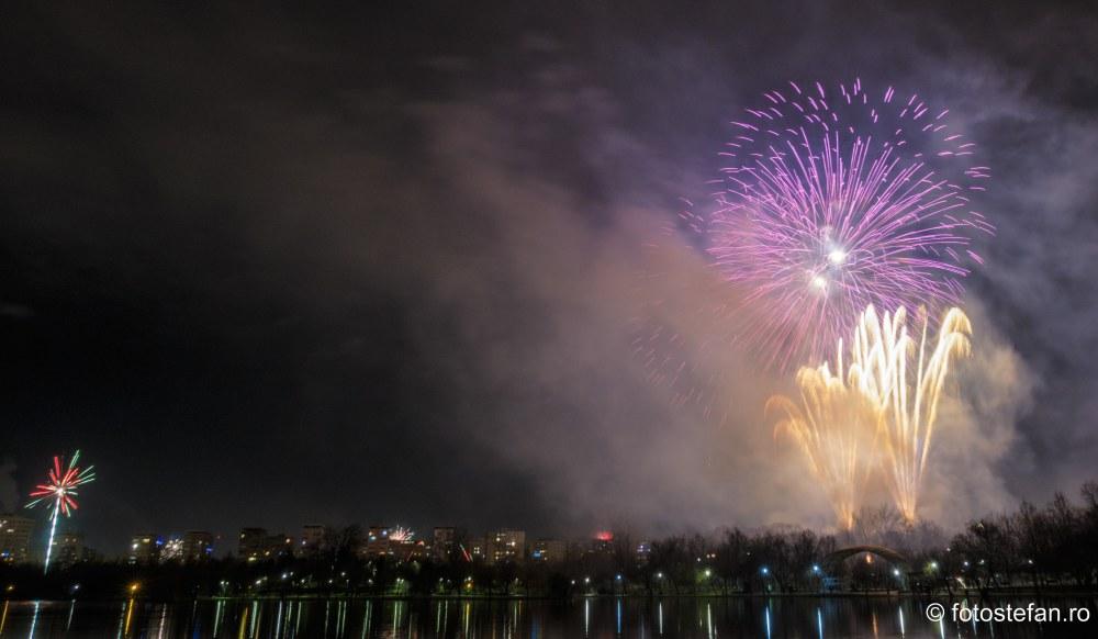 fotografii focuri Artificii de Revelion 2020 Bucuresti Romania