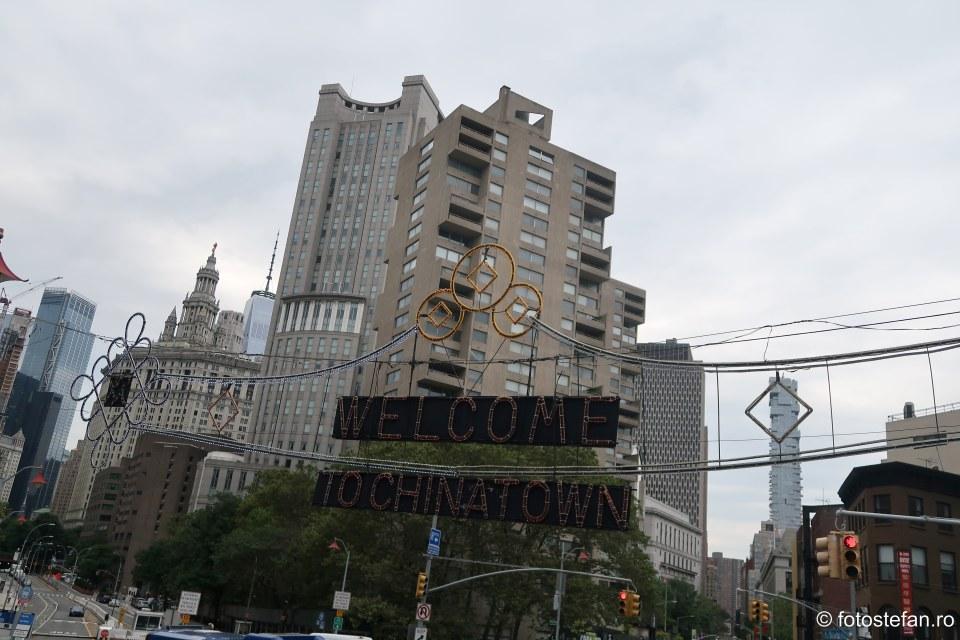 welcome chinatown new york city usa