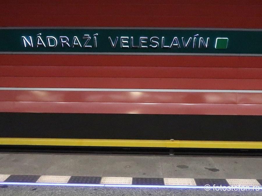 poza statie metrou Nádraží Veleslavín Transportul public in Praga