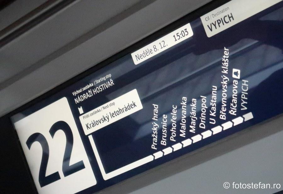 afisaj electronic tramvai praga