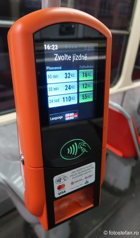 poza automat bilete transport in comun praga cehia