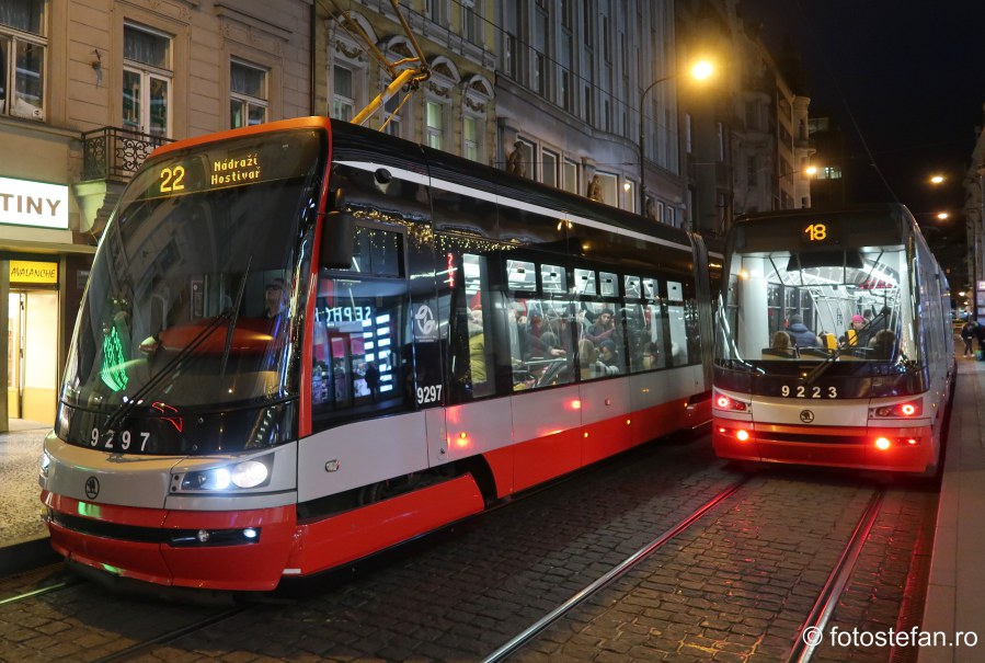 Transportul public in Praga poze tramvaie