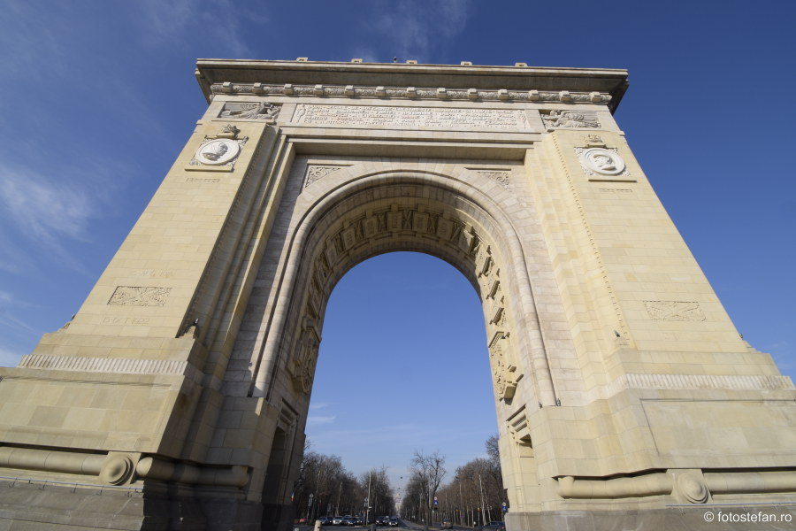 fotografii arcul de triumf bucuresti romania obiectiv nikon d5300
