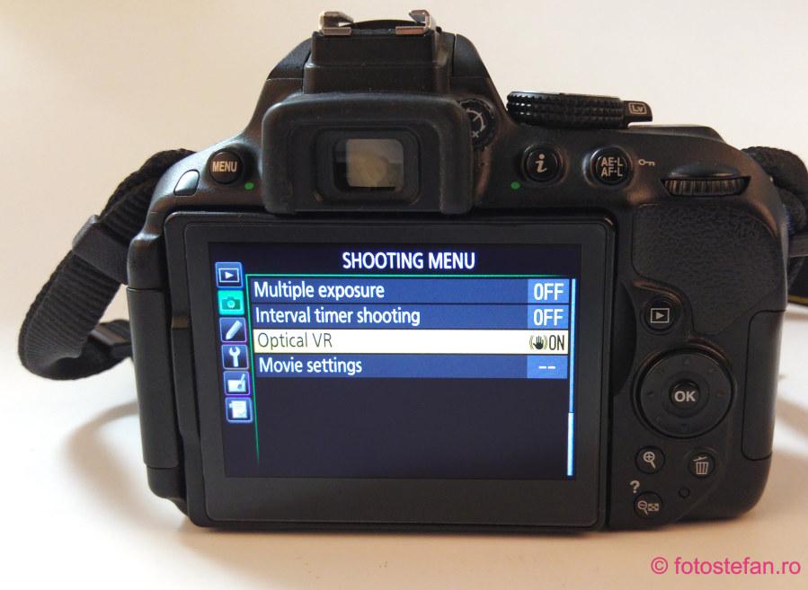 poza meniu nikon d5300 obiectiv AF-P DX NIKKOR 10-20mm f/4.5-5.6G VR