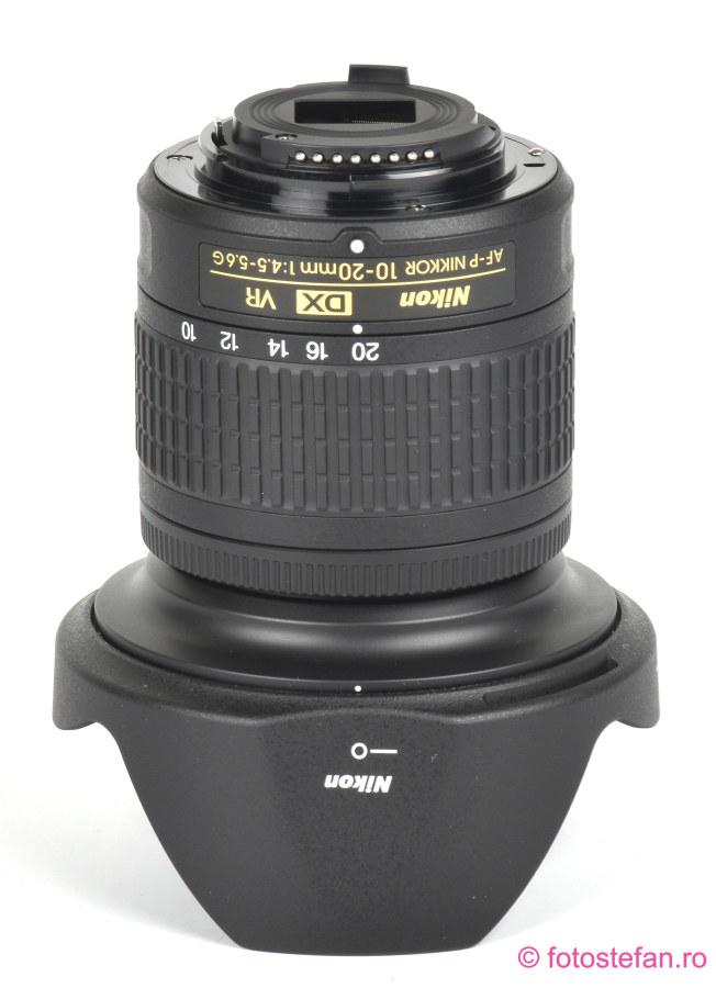poza montura plastic obiectiv AF-P DX NIKKOR 10-20mm f/4.5-5.6G VR