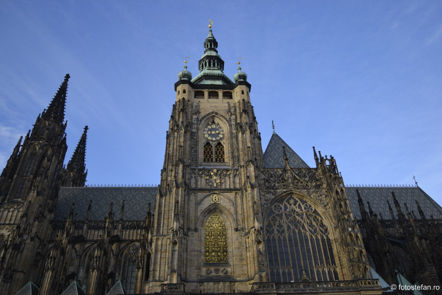 Catedrala Sf. Vitus praga castel poze calatorie