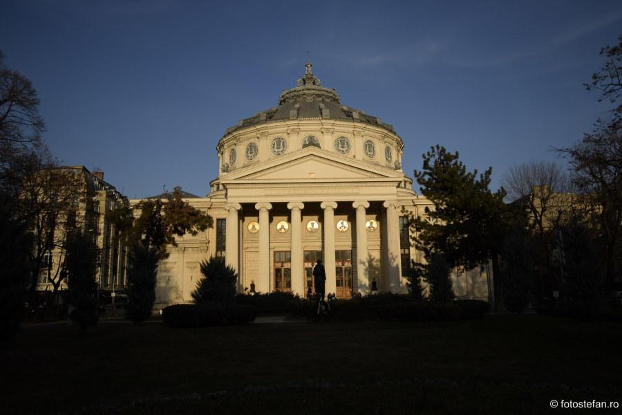 romanian atheneu bucharest architecture building wide angle lens