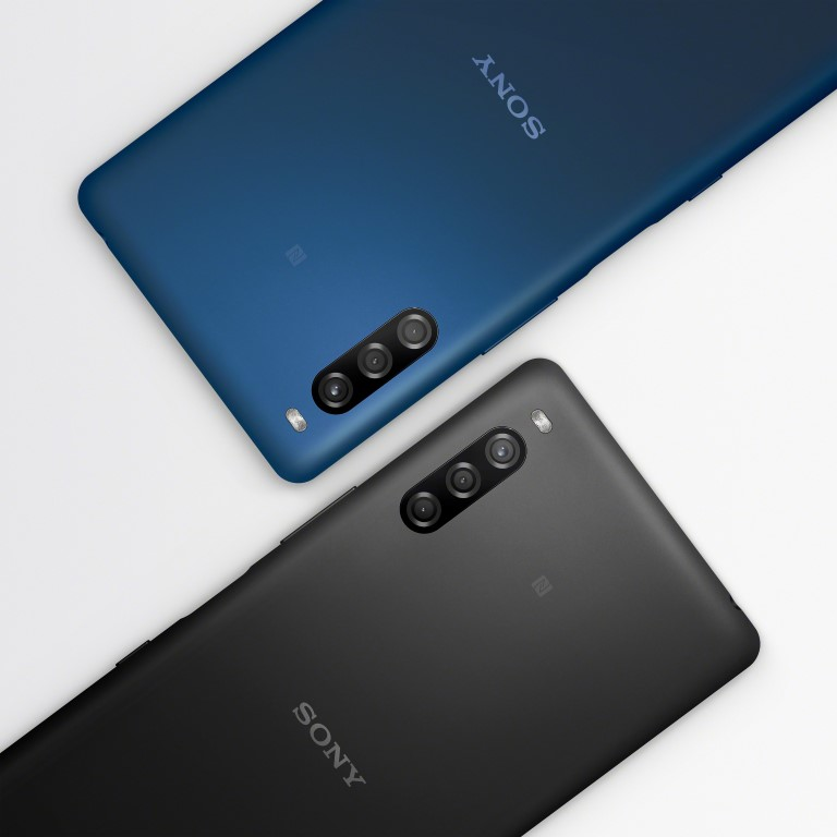 Sony Xperia L4 poza telefon mobil smartphone albastru negru