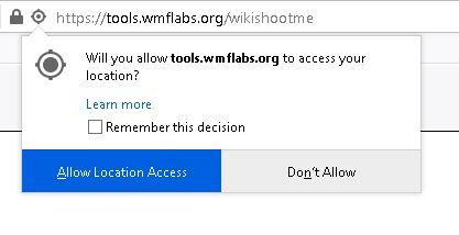 WikiShootMe acces locatie broser web planificare calatorie
