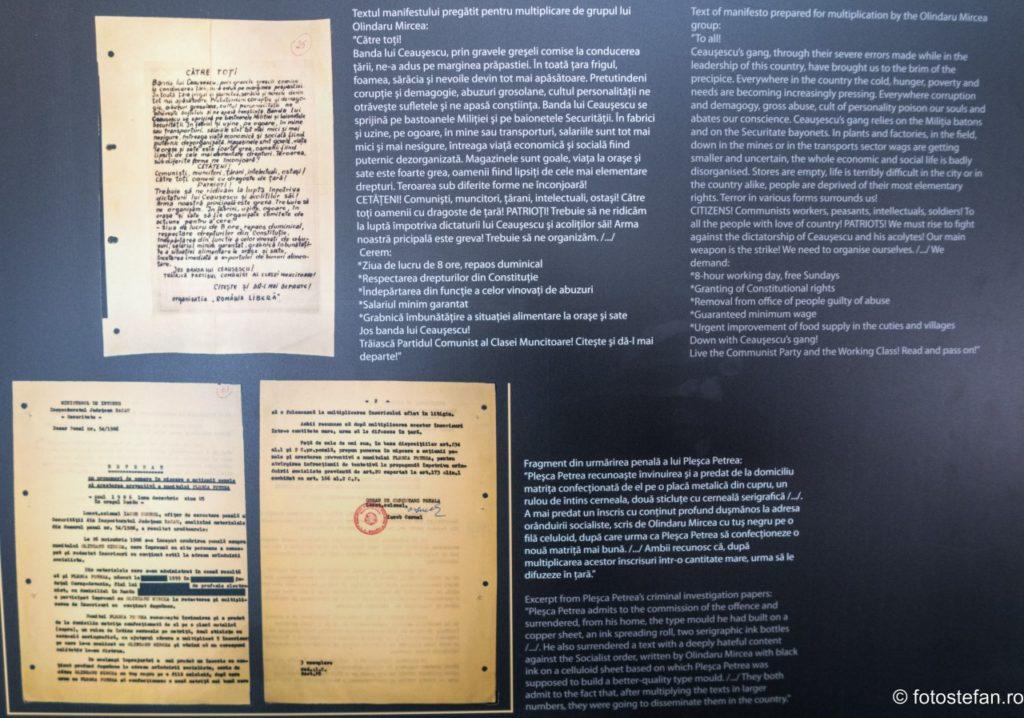 Eroi fara glorie expozitia CNSAS  protestele in timpul comunismului sala Mica TNB