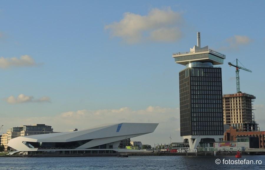 locuri de vizitat in amsterdam turnul adma cladirea institutului de film olandez arhitectura