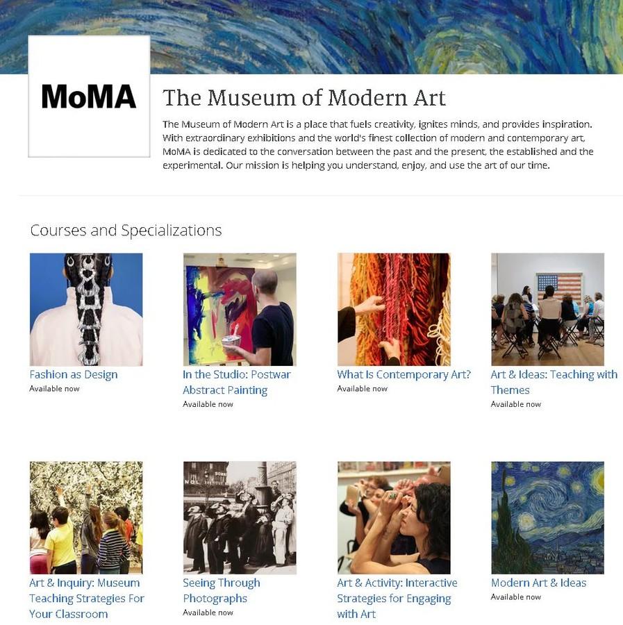 Cursuri online gratuite design moda arta moderna fotografie moma Coursera