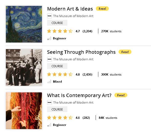 Cursuri online gratuite design arta fotografie moda