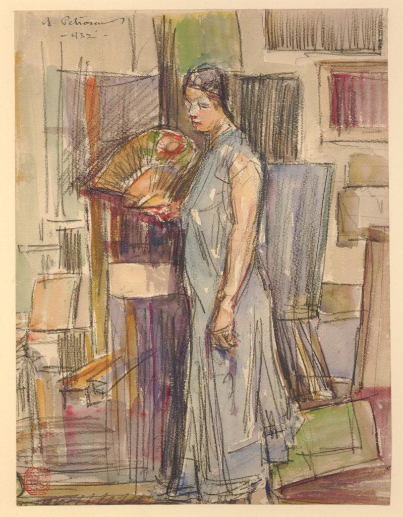 Imagini gratuite de descarcat picura desen George Petraṣcu british museum