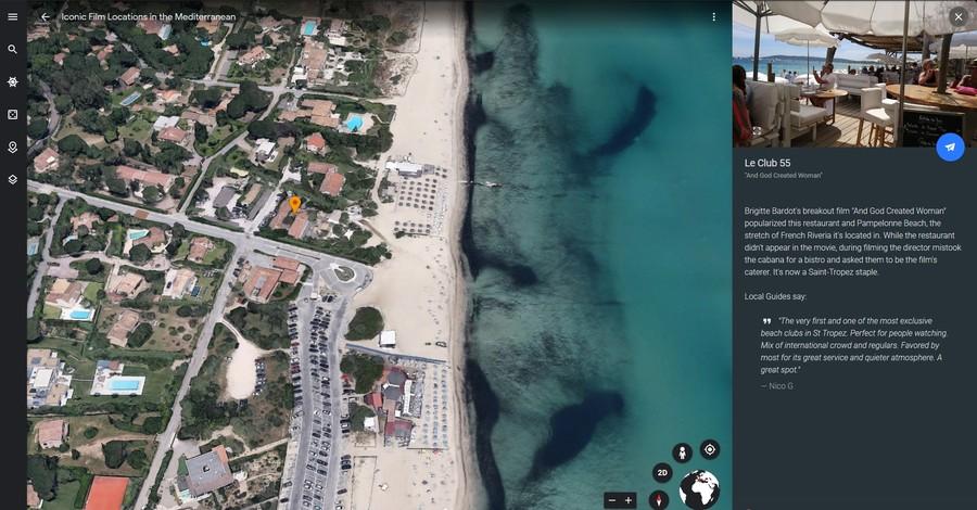 clu 55 saint tropez franta calatorie virtuala google earth