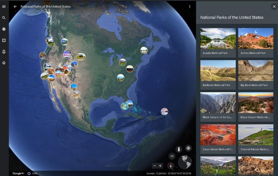 tururi virtuale parcuri naturale america de nord calatorie sua