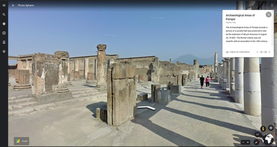pompei unesco tur virtual google earth