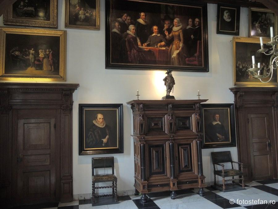 poza tablouti cetatea Muiderslot muzeu unesco
