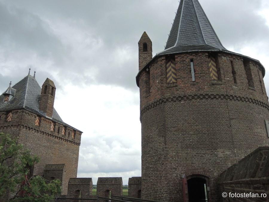 fotografie turnuri cetate Muiderslot castel medieval amsterdam