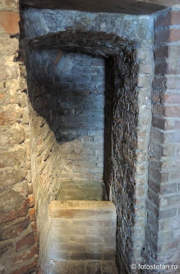 poza wc medieval perete castelul Muiderslot olanda