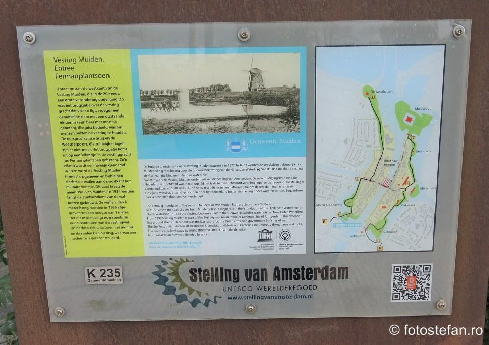 harta obiective turistice muiden amsterdam olanda