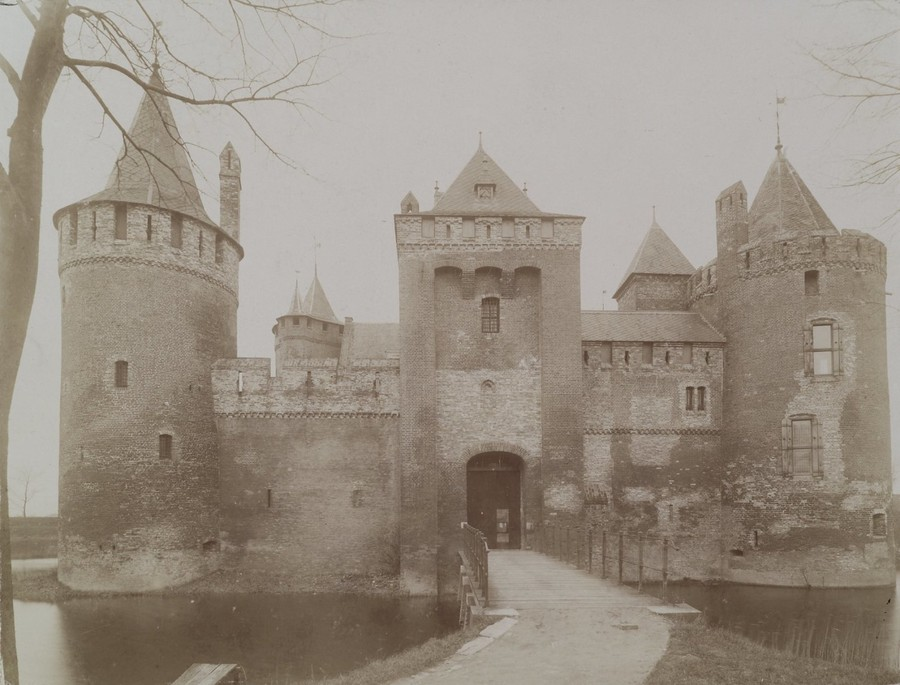 fotografie documentara sepia castelul muiderslot oras muiden planda