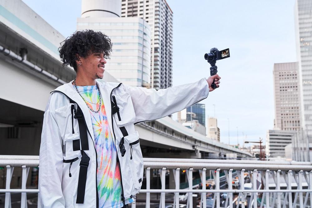 autoportret selfie aparat foto compact sony