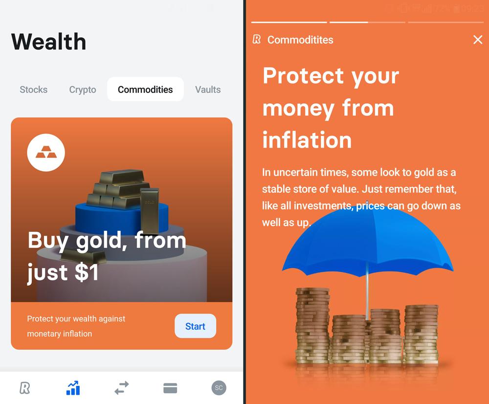 revolut 7 aplicatie bancara cumpara vinde aur