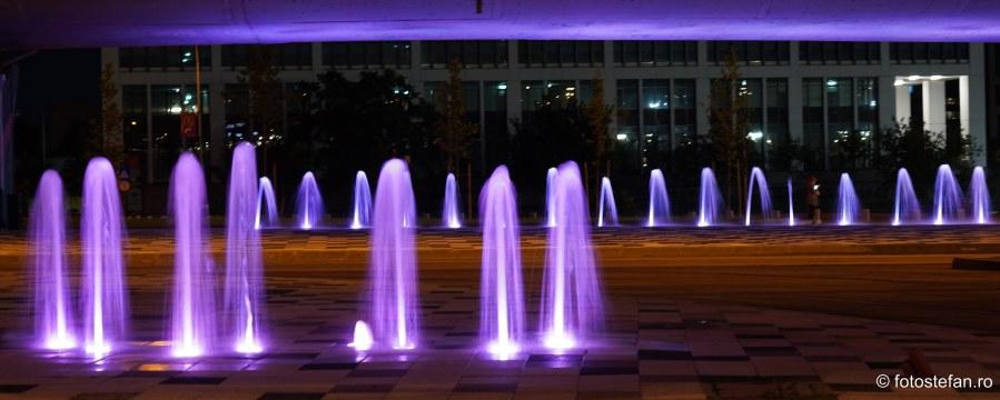 fotografii fantani lumini seara pasaj basarab bucuresti