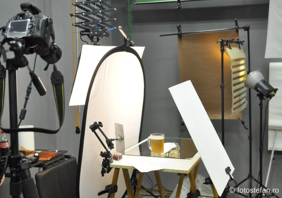 Fotografia de studio acasa poza halba bere