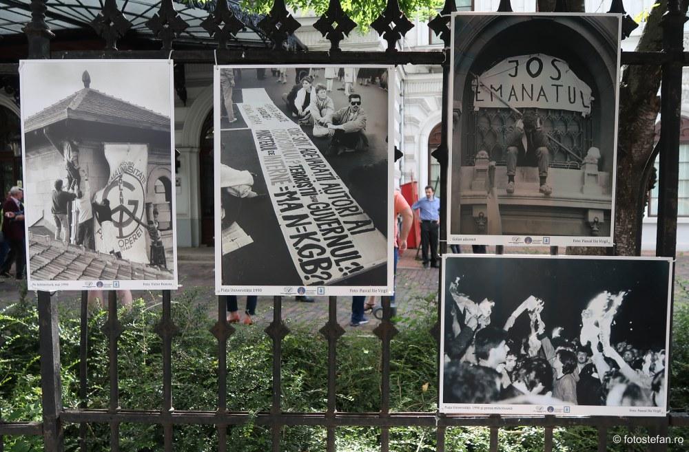 expozitie fotografie gardul palatului sutu muzeul municipiului bucuresti mineriada