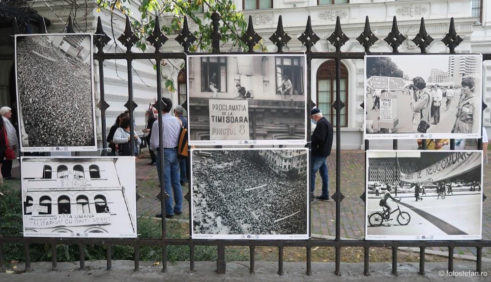 vernisaj expozitie fotografie documentara piata universitatii iunie 1990 protest
