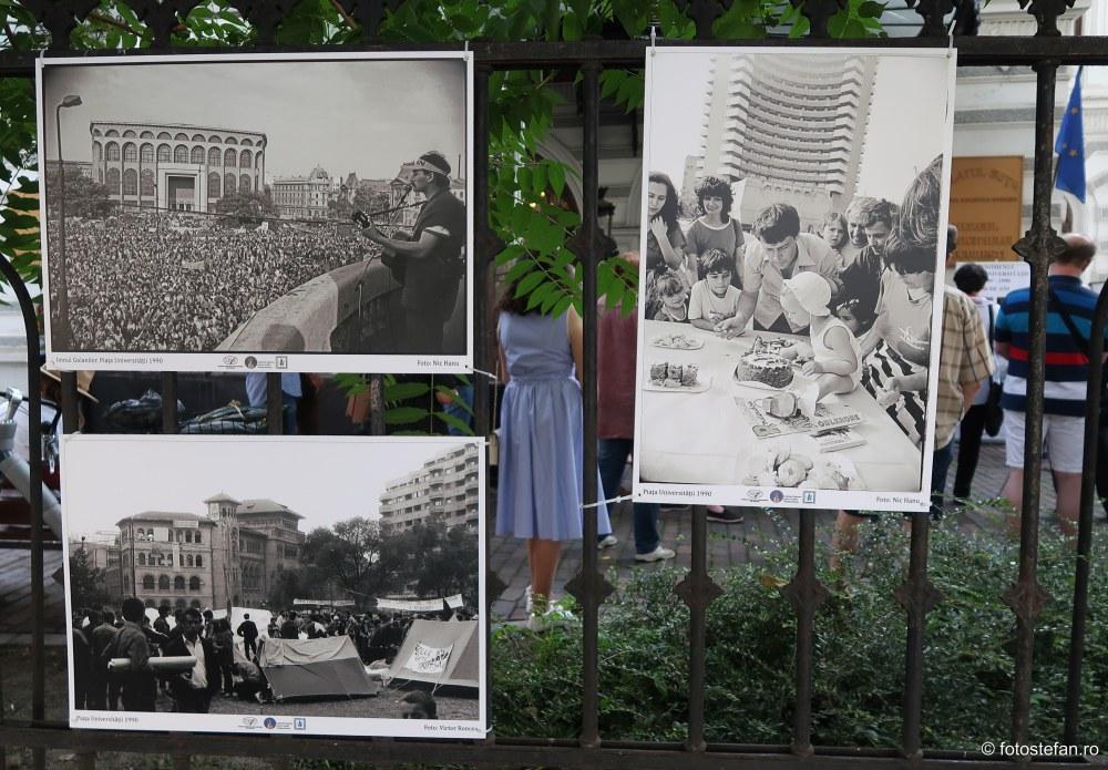 poza imnul golanilor fotografie documentara mineriada bucuresti iunie 1990