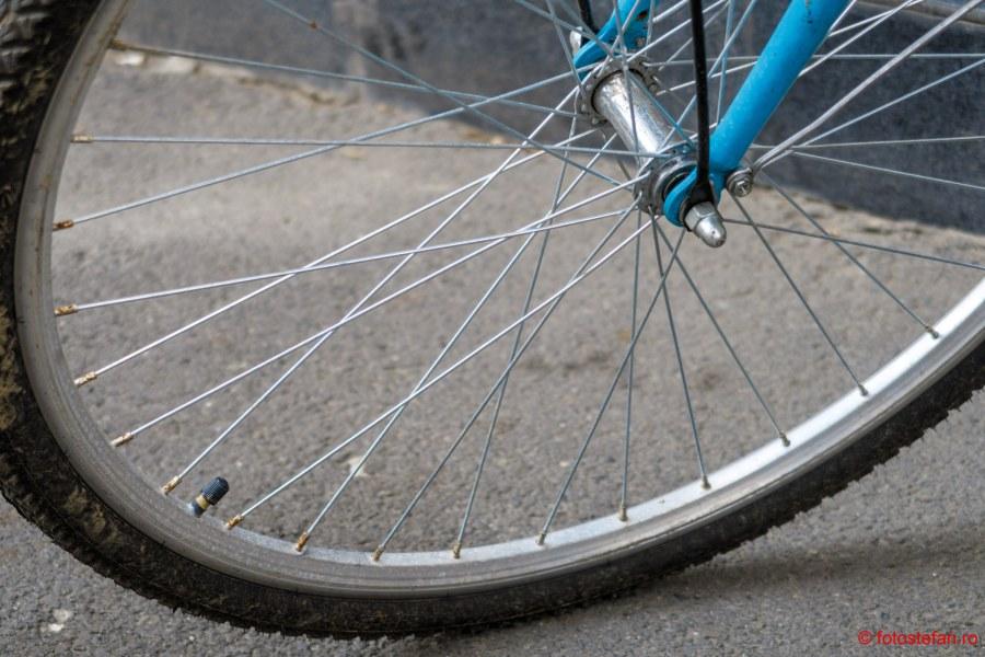 poza roata bicicleta valva camera