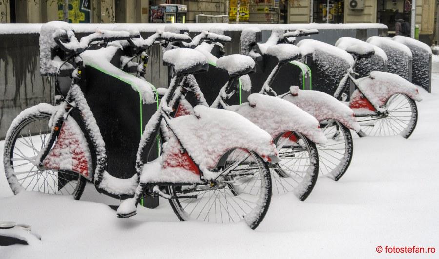 poza biciclete ivelo urban iarna bucuresti