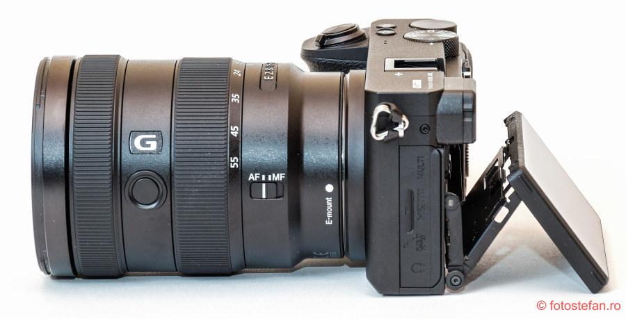 test pareri sony a6600 aparat foto mirrorless lcd mobil