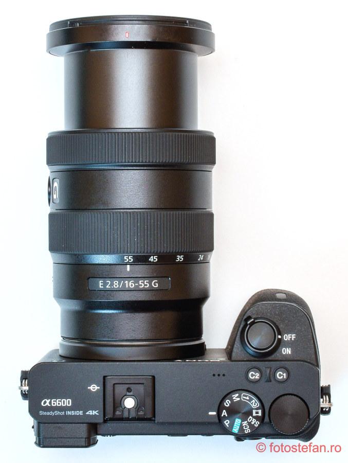 test obiectiv mirrorless sony a6600