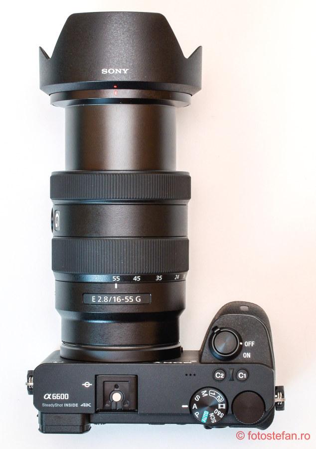 poza obiectiv Sony E 16-55mm F2.8 G mirrorless sony a6600