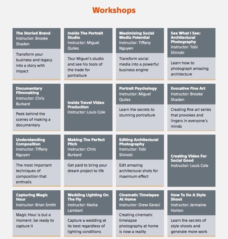 ateliere online gratuite fotografie workshop