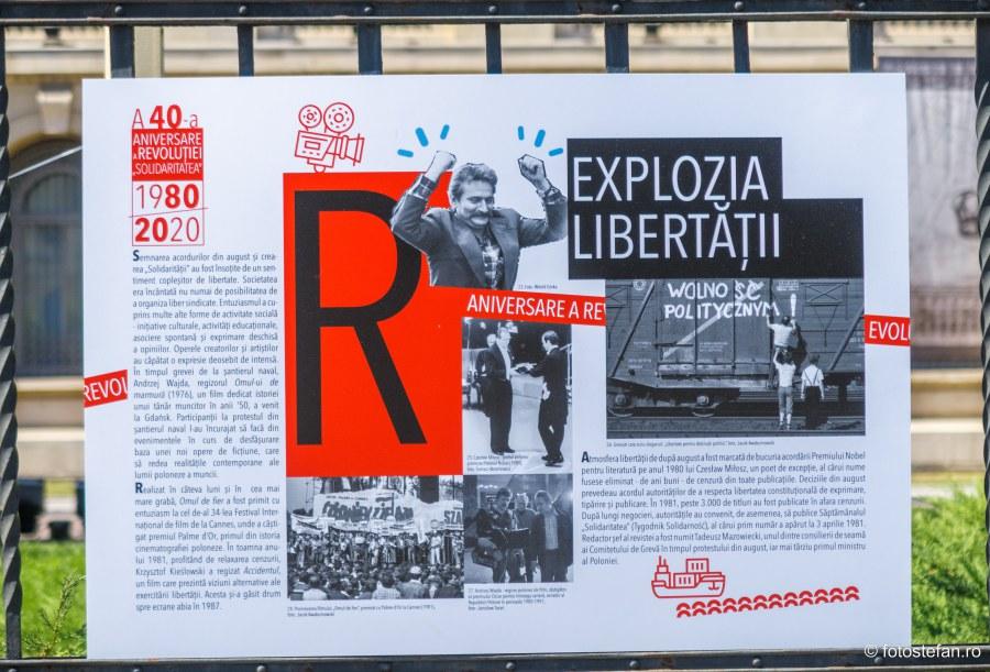 expozitie foto istoria sindicatului polonez solidaritatea bucuresti calea victoriei