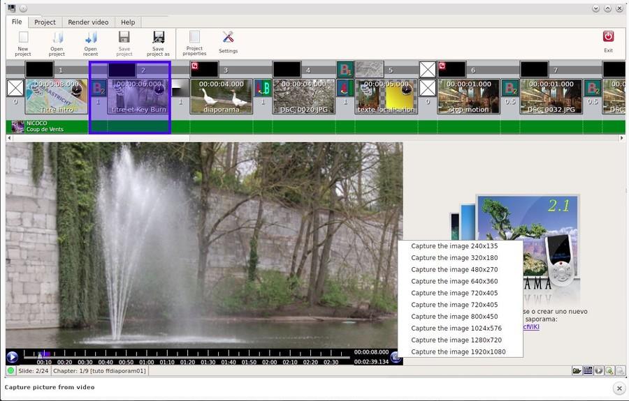 ffDiaporama program gratuit editare videoclipuri filmari