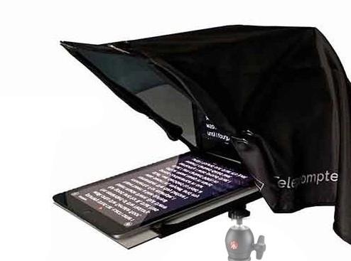 poza teleprompter smartphone tableta vloggign videoconferinta