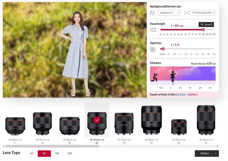 Simulator obiective foto Samyang site online